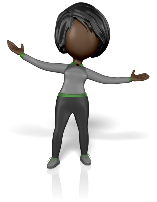 Clipart - Stickwoman Welcome Arms