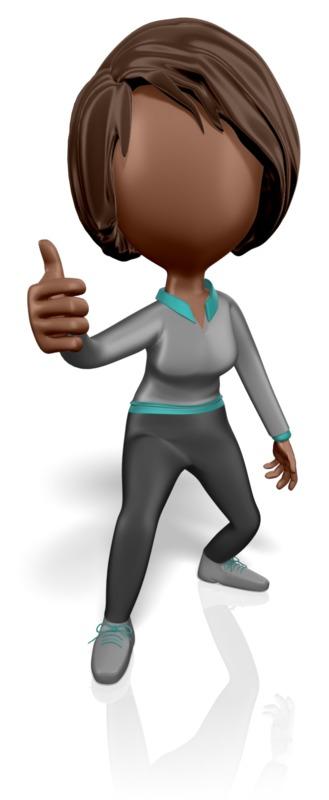 Clipart - Stickwoman Thumbs Up
