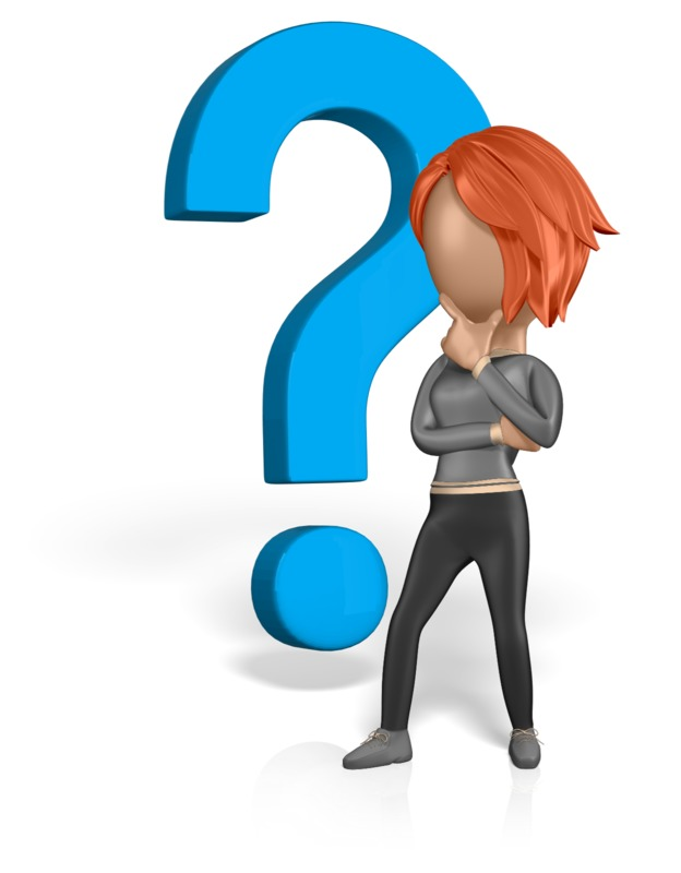 Clipart - Woman Figure Thinking Question