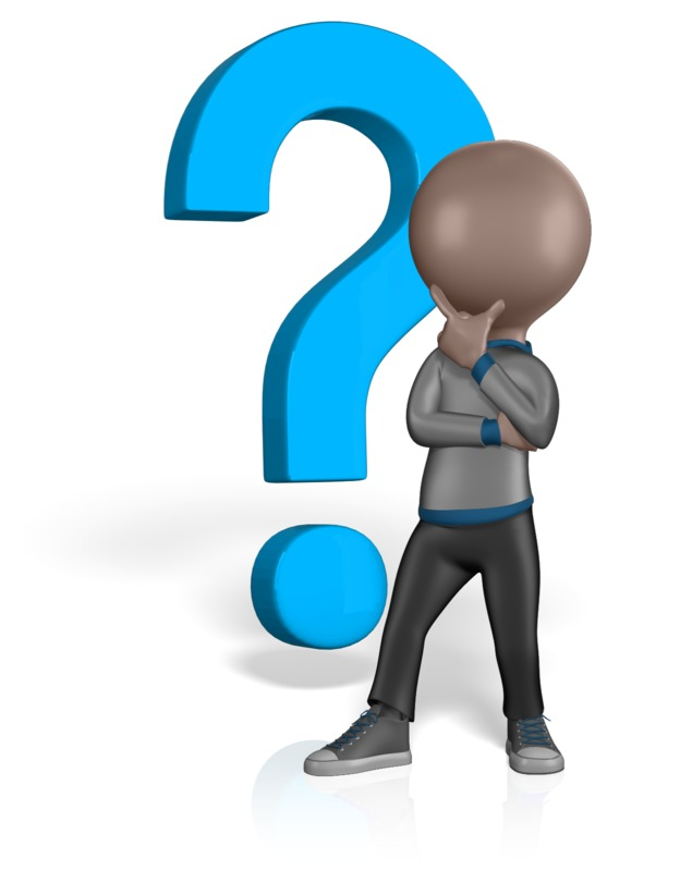 Clipart - Stick Man Thinking Question