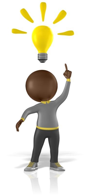 Clipart - Figure Having A Bright Idea