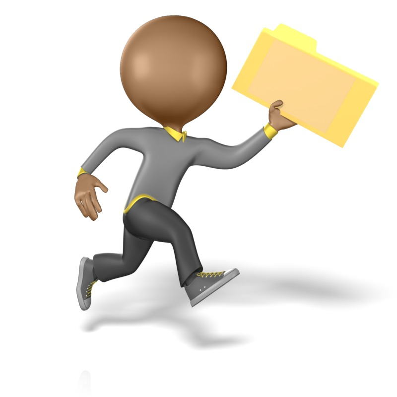 Clipart - Running With Folder
