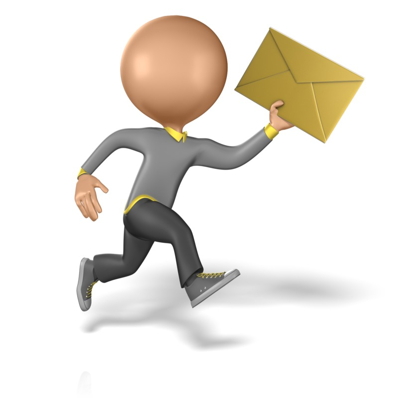 Clipart - Running to Deliver a Message