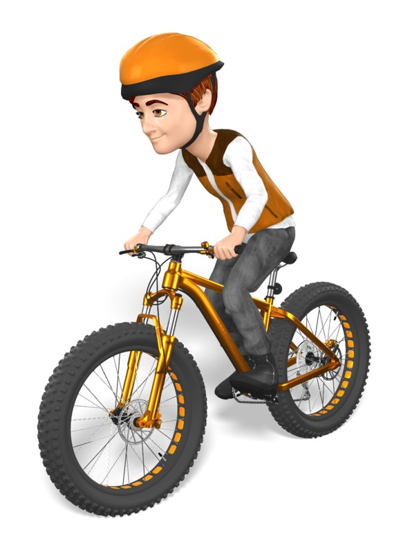 Clipart - Grant Fat Bike Cyclist Ride