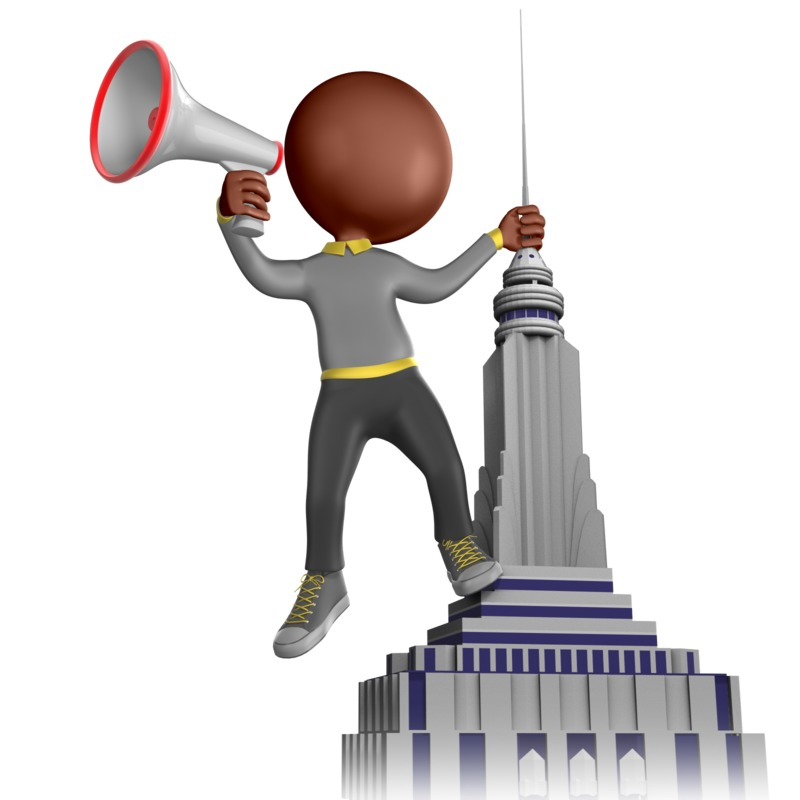 Clipart - Shouting From The Rooftop