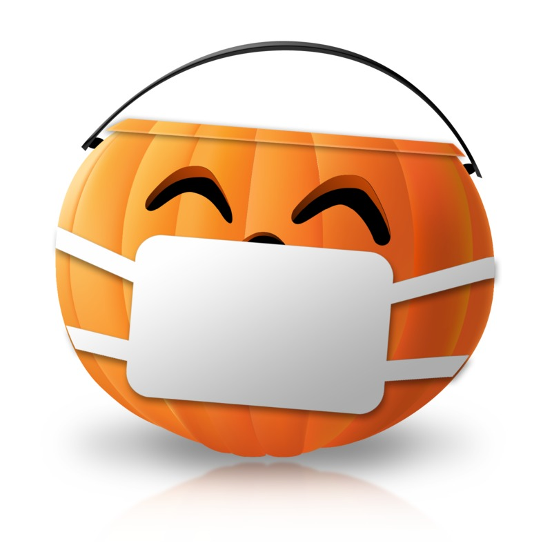 Clipart - Halloween Candy Pail Mask
