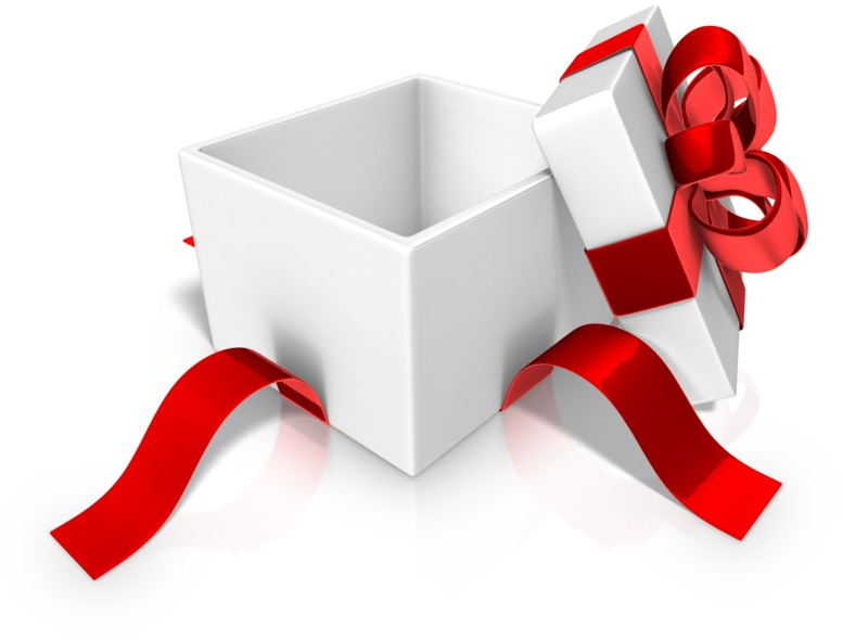 Clipart - Open Unwrapped Present Gift
