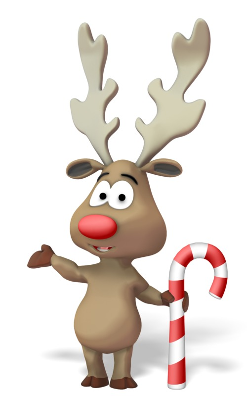Clipart - Reindeer Presenting to the Side