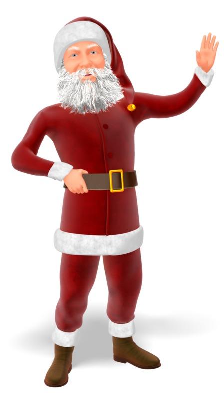 Clipart - Santa Greeting Pose