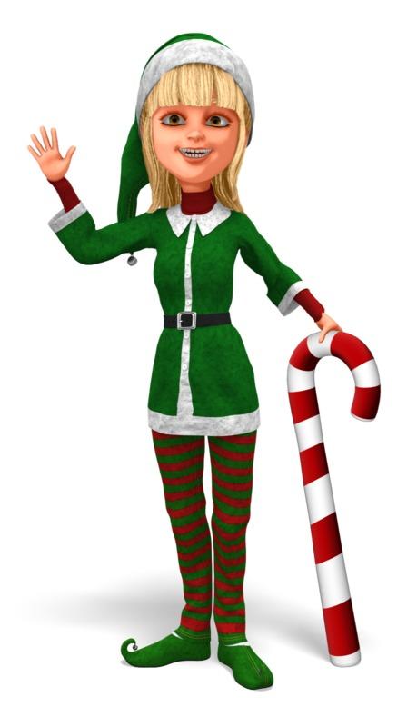 Clipart - Santas Helper Greeting Pose