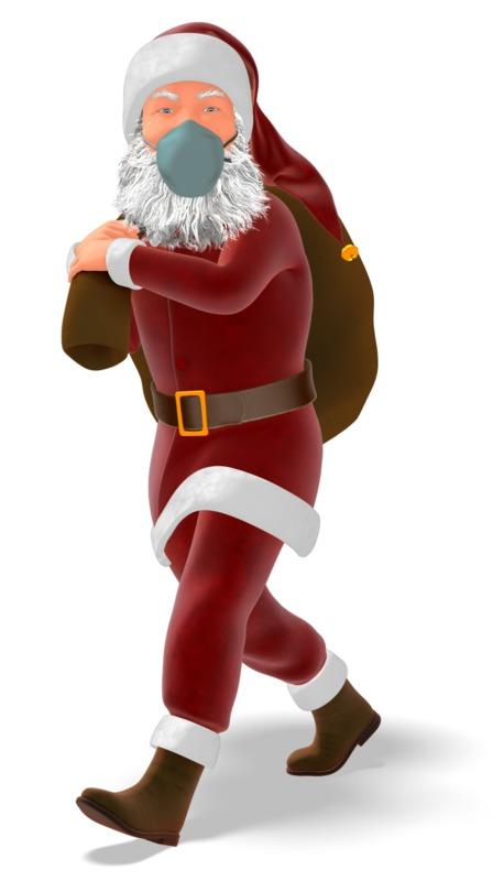 Clipart - Santa Masked Carrying Bag