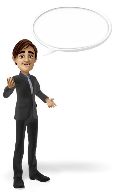 Clipart - Businessman Conversation Bubble