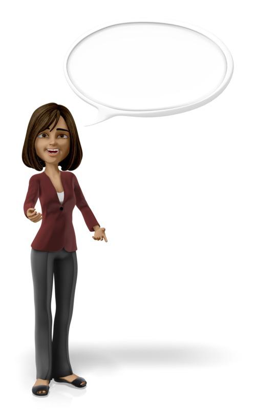 Clipart - Businesswoman Conversation Bubble
