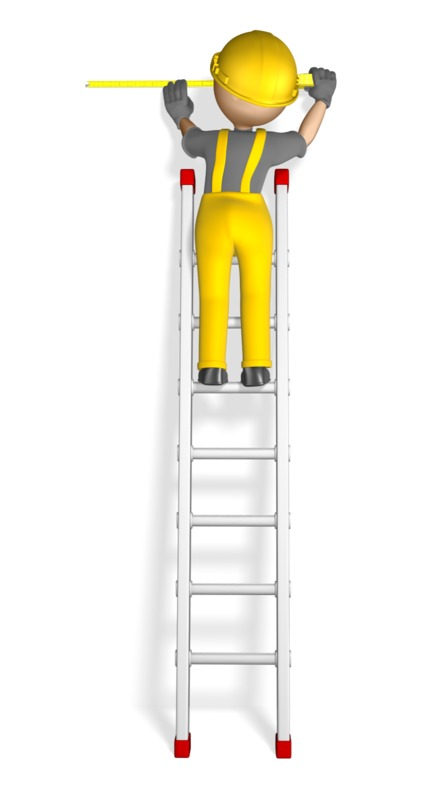 Clipart - Construction Figure Using Tape Measure