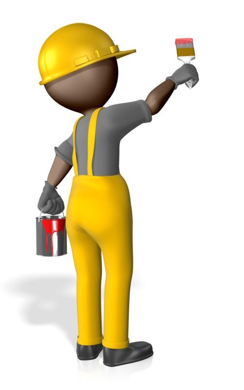 Clipart - Construction Figure Painting