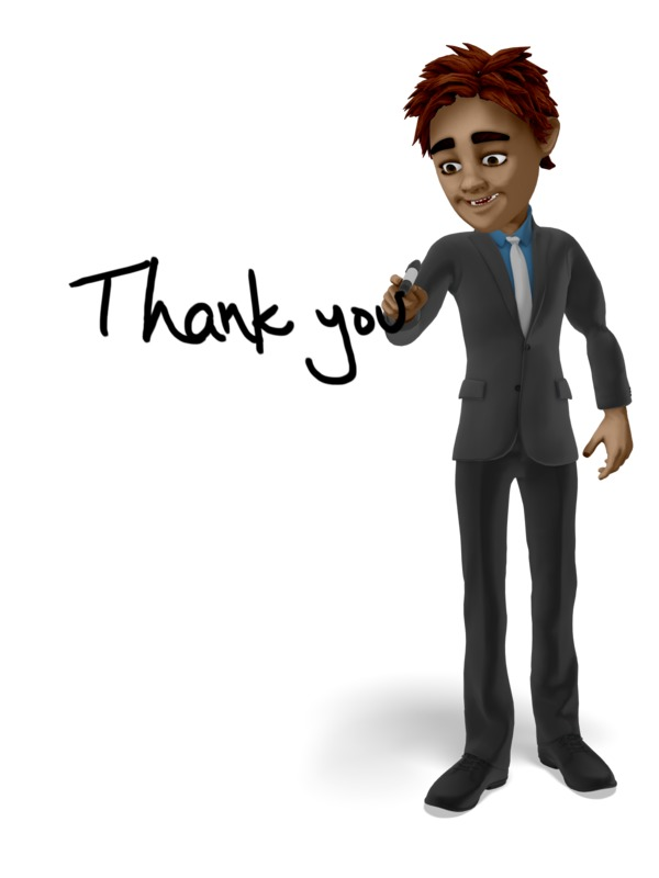 Clipart - Businessman Drawing Thank You