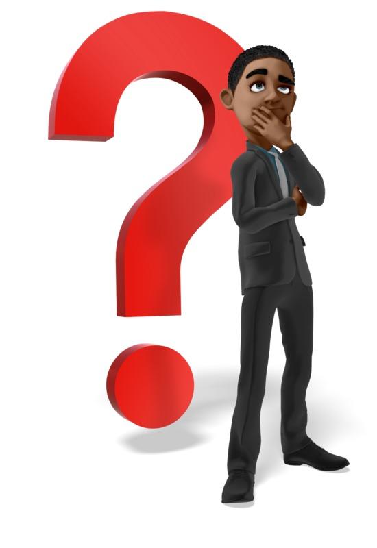 Clipart - Businessman Question Mark Thinking