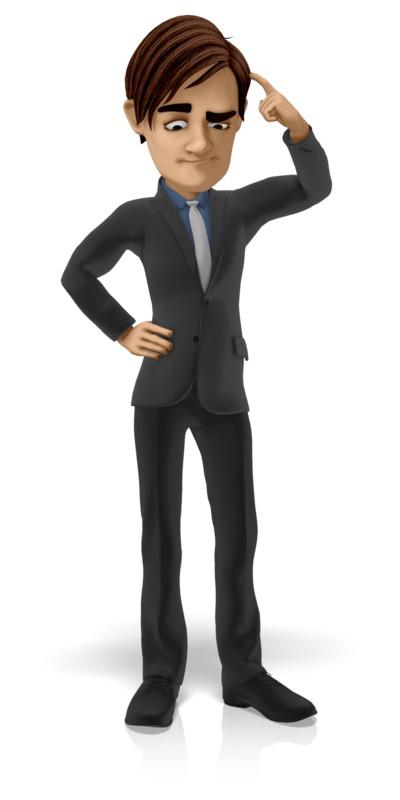 Clipart - Businessman Puzzled