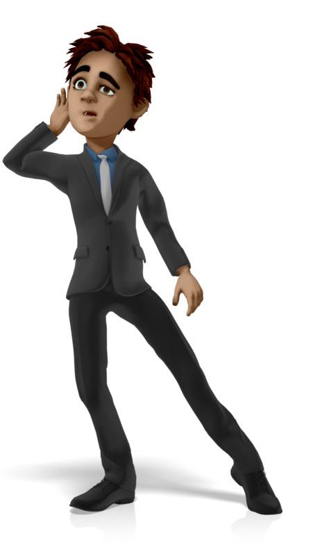 Clipart - Businessman Listen