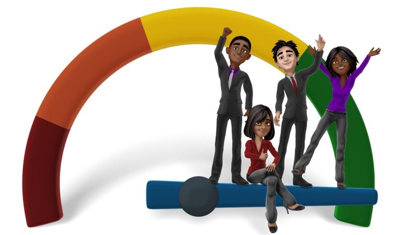 Clipart - Business Team Full Success Gauge