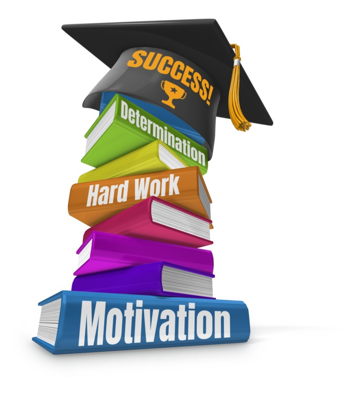 This Presentation Clipart shows a preview of Book Stack Graduation Cap