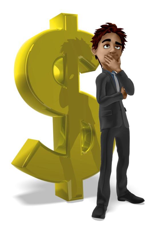 Clipart - Businessman Dollar Sign Thinking