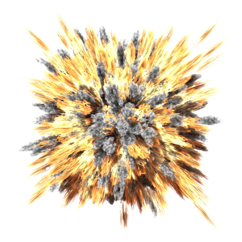 Clipart - Powerful Explosion
