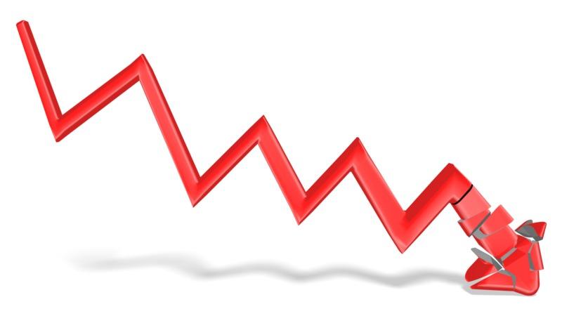 Clipart - Arrow Graph Shatter