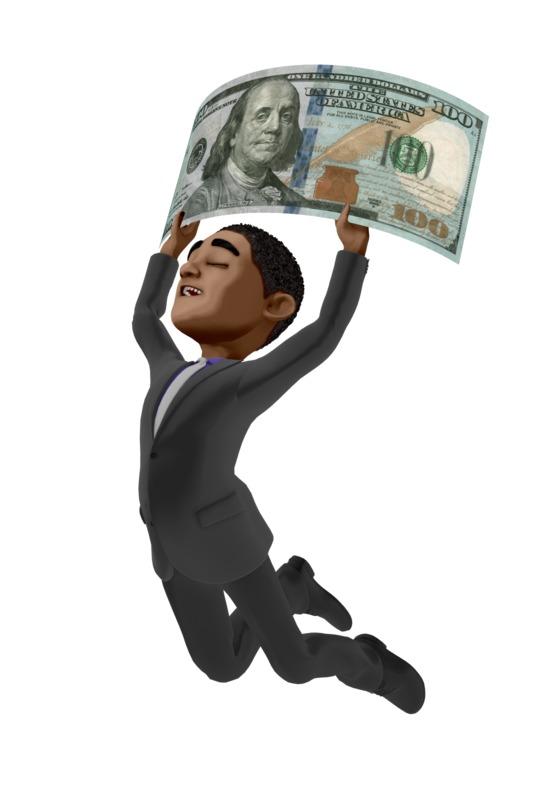 Clipart - Ethan Money Happy