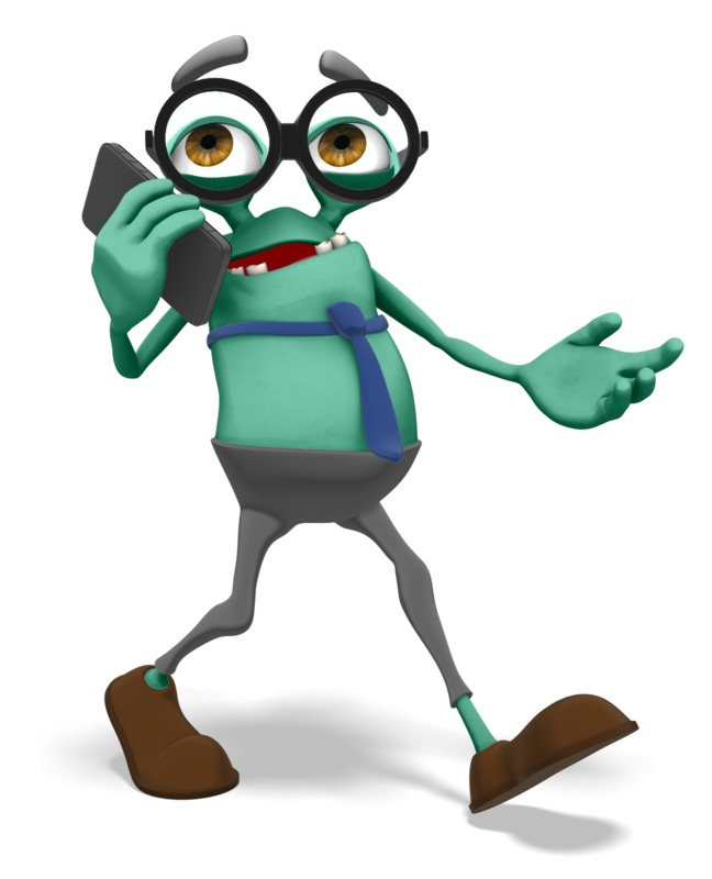 Clipart - Jerry Talking On Smartphone
