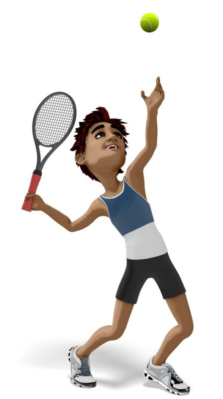 Clipart - Brad Playing Tennis