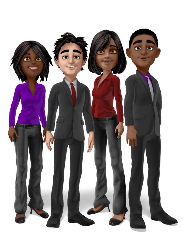 Clipart - Diverse Business Team