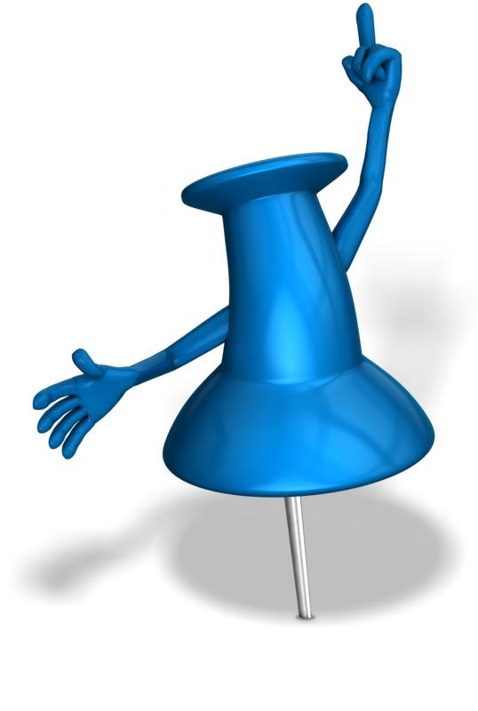 Clipart - Thumbtack Idea Exclamation Clipart