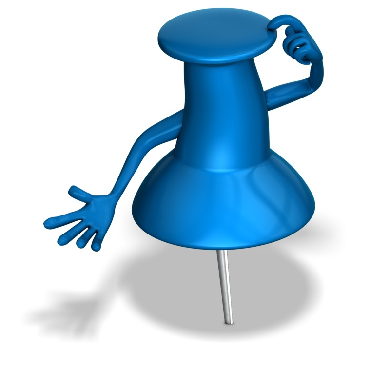 Clipart - Thumb Tack Thinking