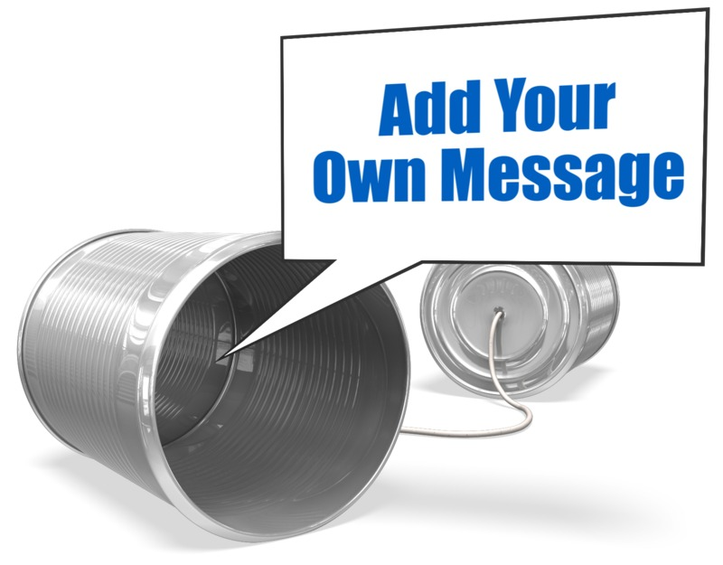 This Presentation Clipart shows a preview of Tin Can Telephone Custom