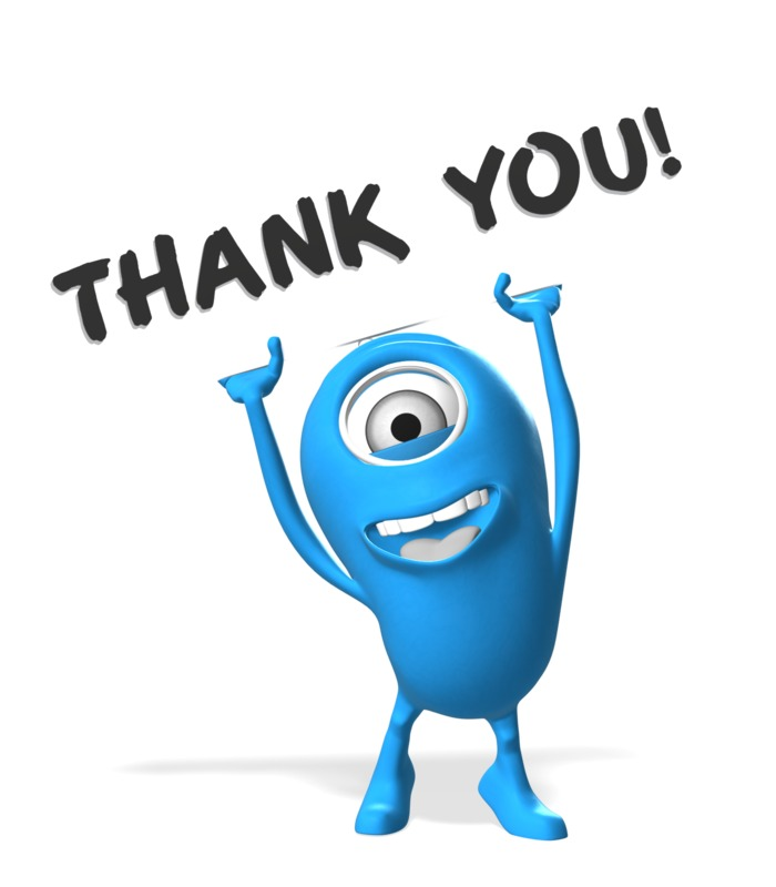 Clipart - Minion With Thank You Sign