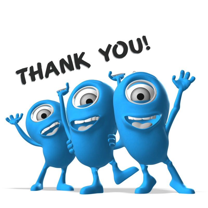 Clipart - Mulitple Minions Thank You Sign