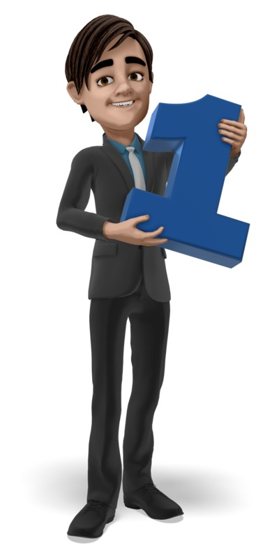 Clipart - Businessman Holding One