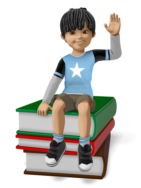 Clipart - James Sitting On Stack of Books