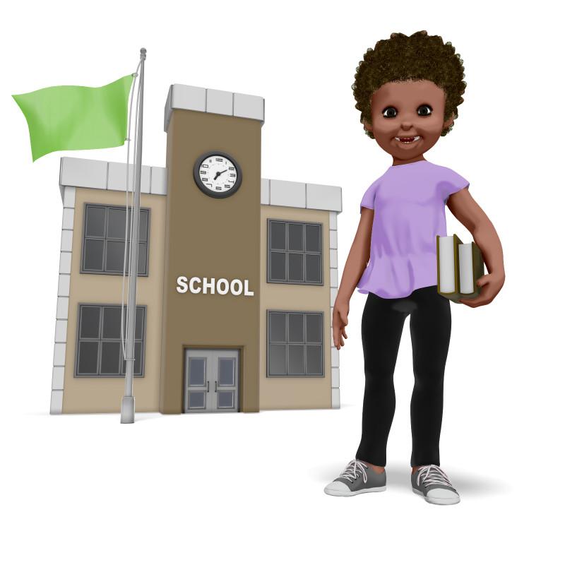 Clipart - Chloe School Building
