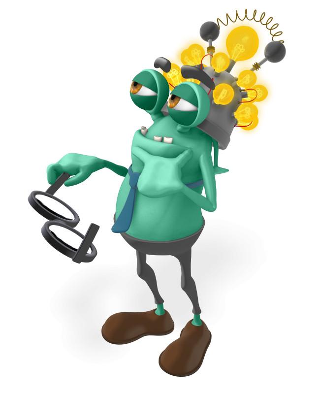 Clipart - Jerry Thinking Cap Idea