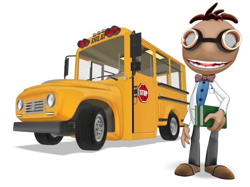 Clipart - Data School Bus
