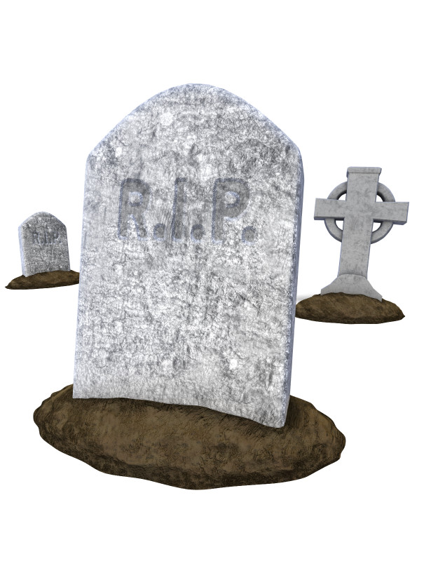 Clipart - Group of Tombstones