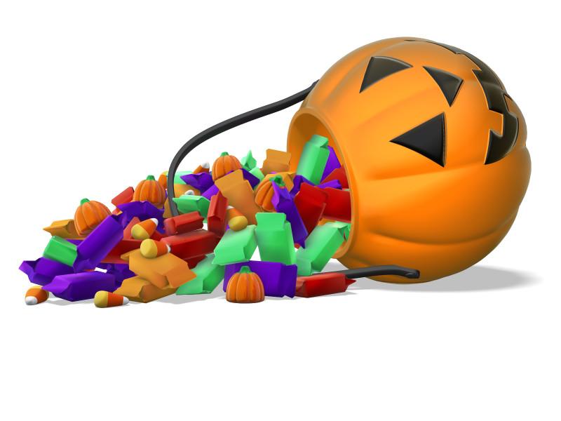 Clipart - Pumpkin Bucket Candy