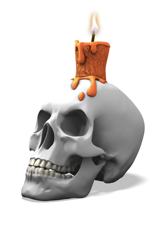 Clipart - Skull and Candle