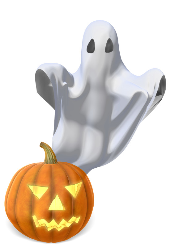 Clipart - Ghost and Pumpkin