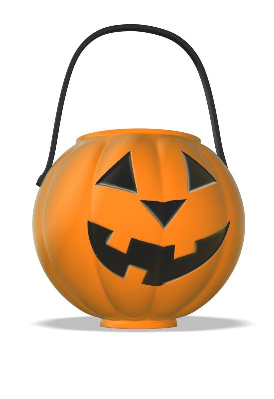 Clipart - Halloween Pumpkin Candy Bucket