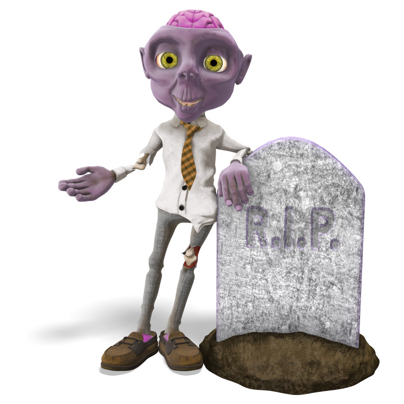 Clipart - Zombie Presenting to the Side