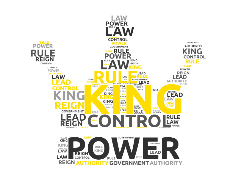 This Presentation Clipart shows a preview of Kings Crown Word Cloud