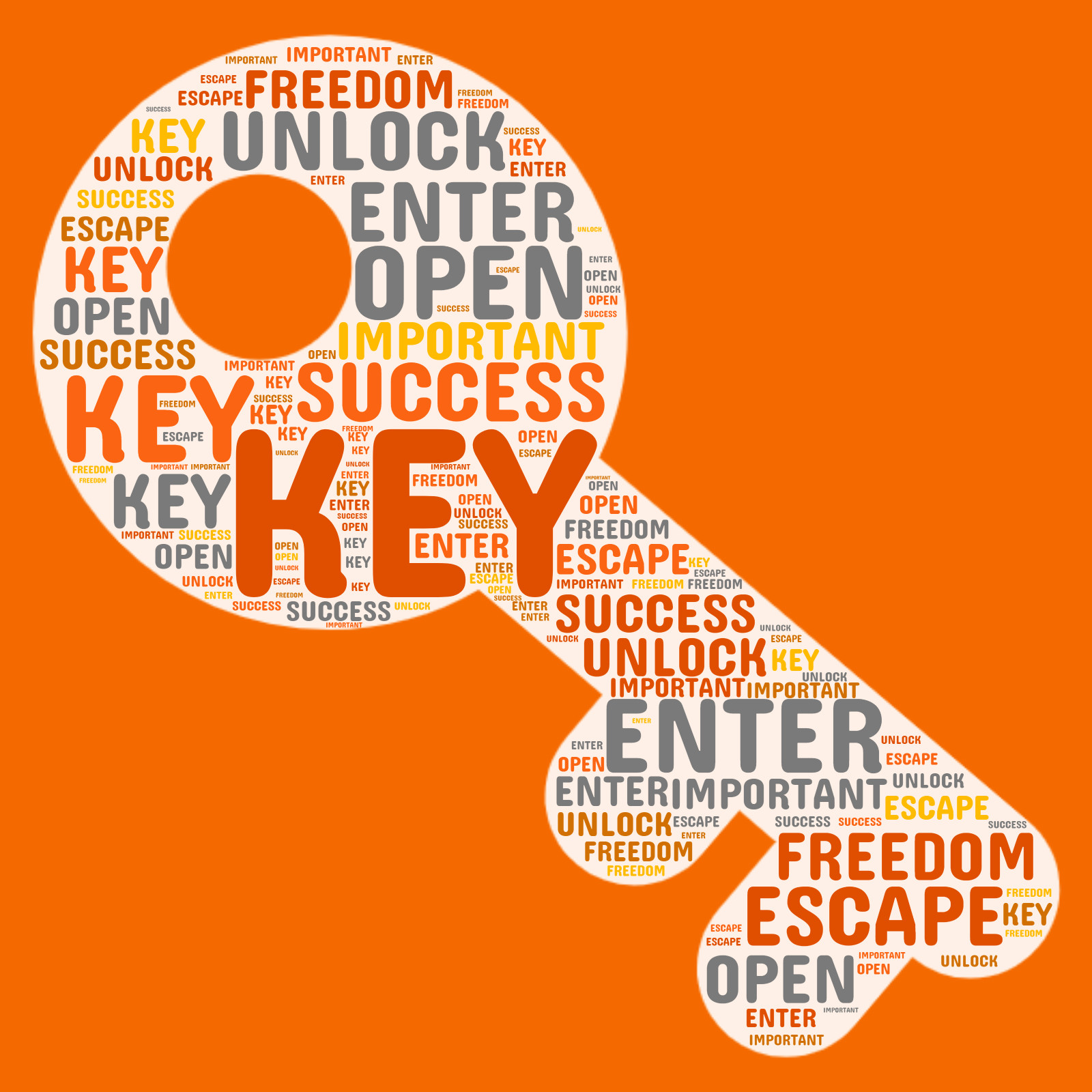This Presentation Clipart shows a preview of Key Word Cloud